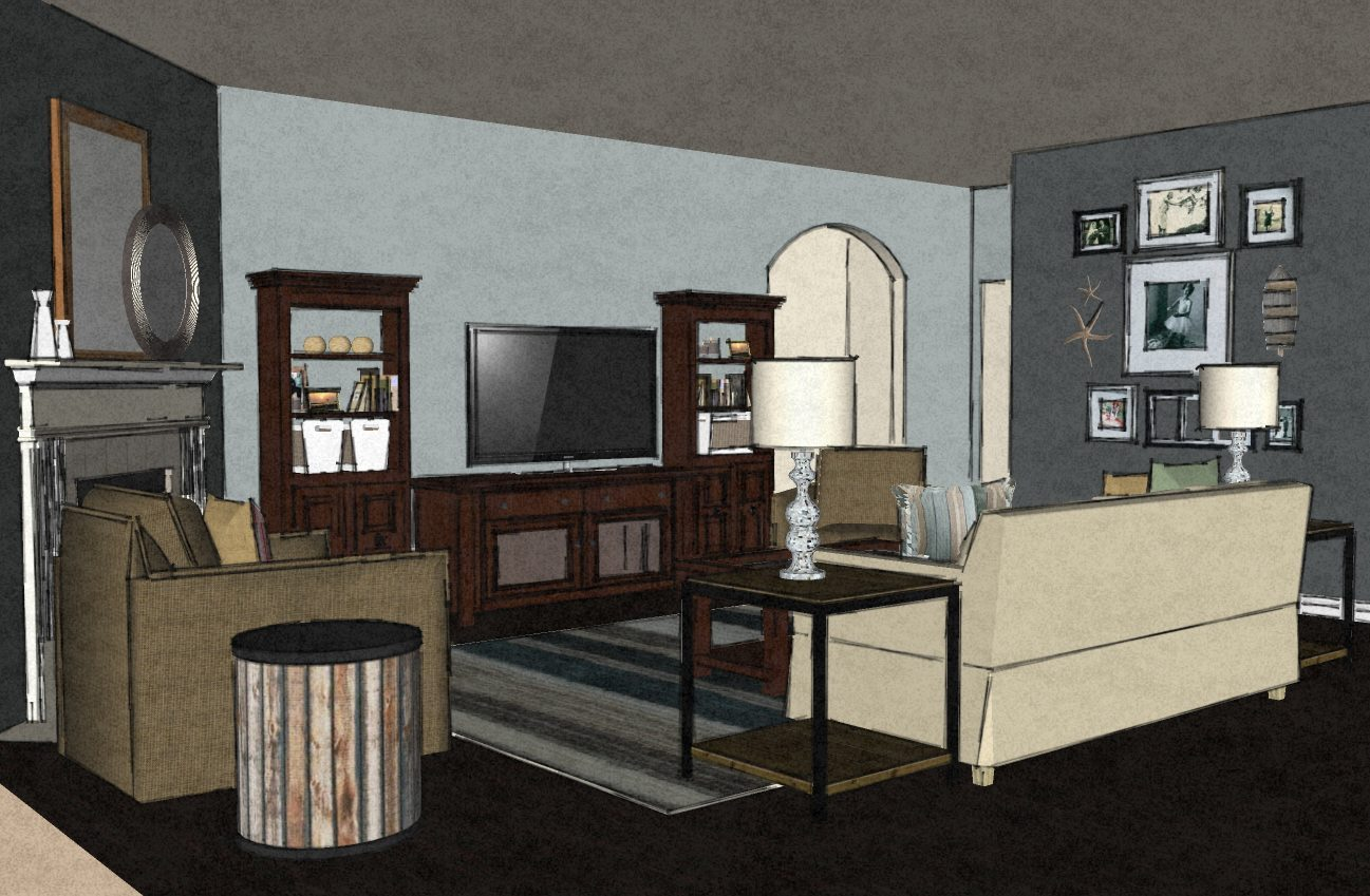 Virtual interior design from a space to call home Virtual apartment decorating