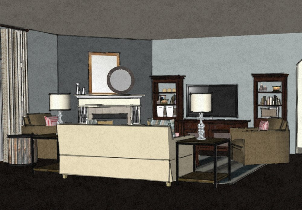 transitional virtual living room design 2 a space to call home