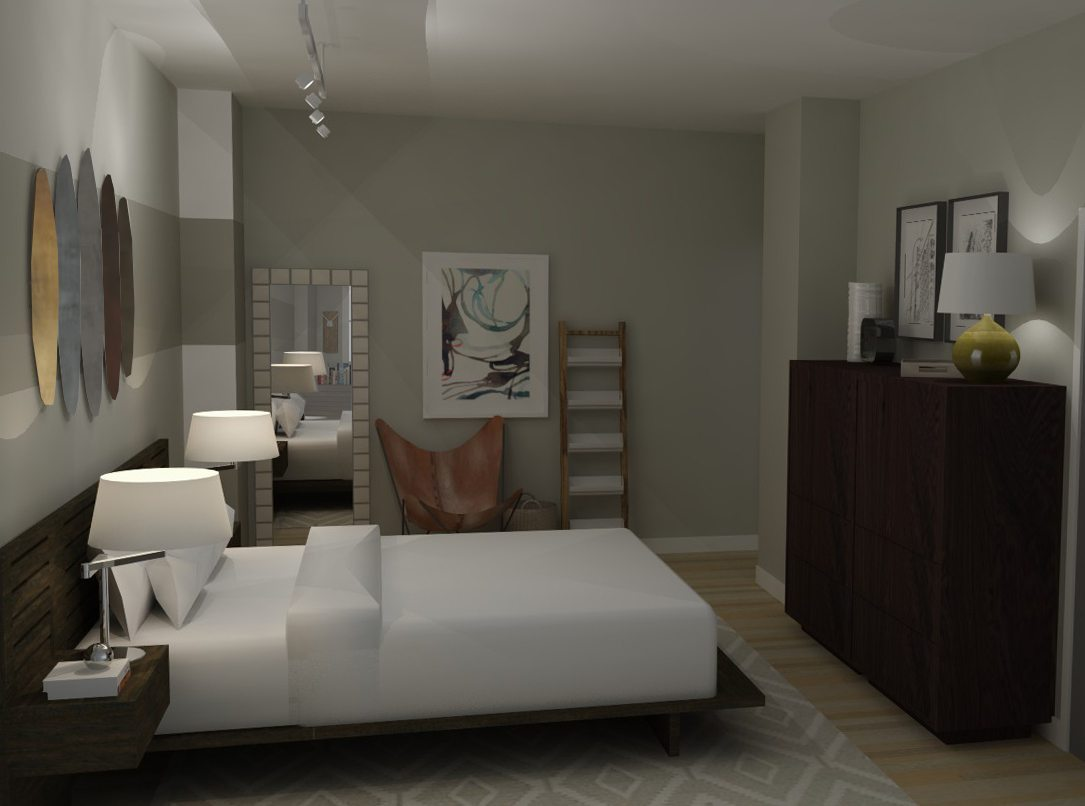 Loft apartment bedroom industrial modern a space to for Modern loft bedroom