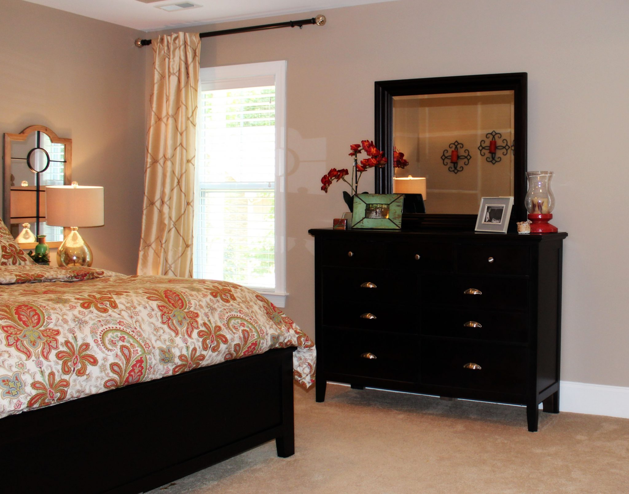 transitional master bedroom makeover in hampstead, nc - a space to