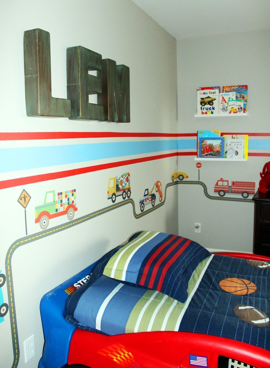 Toddler Boy Room Ideas: Car & Truck Theme Toddler Room Ideas