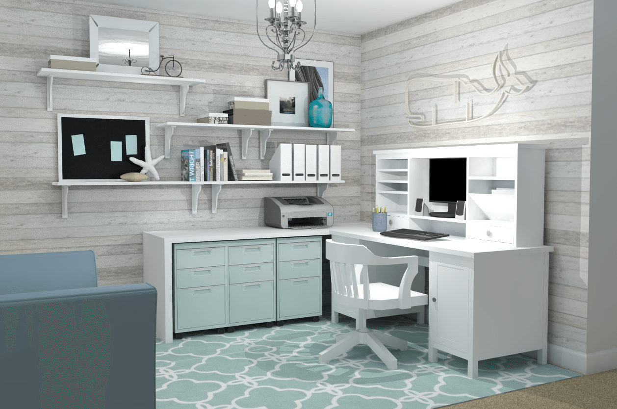 Feminine home office ikea office ideas a space to call for Ikea home design