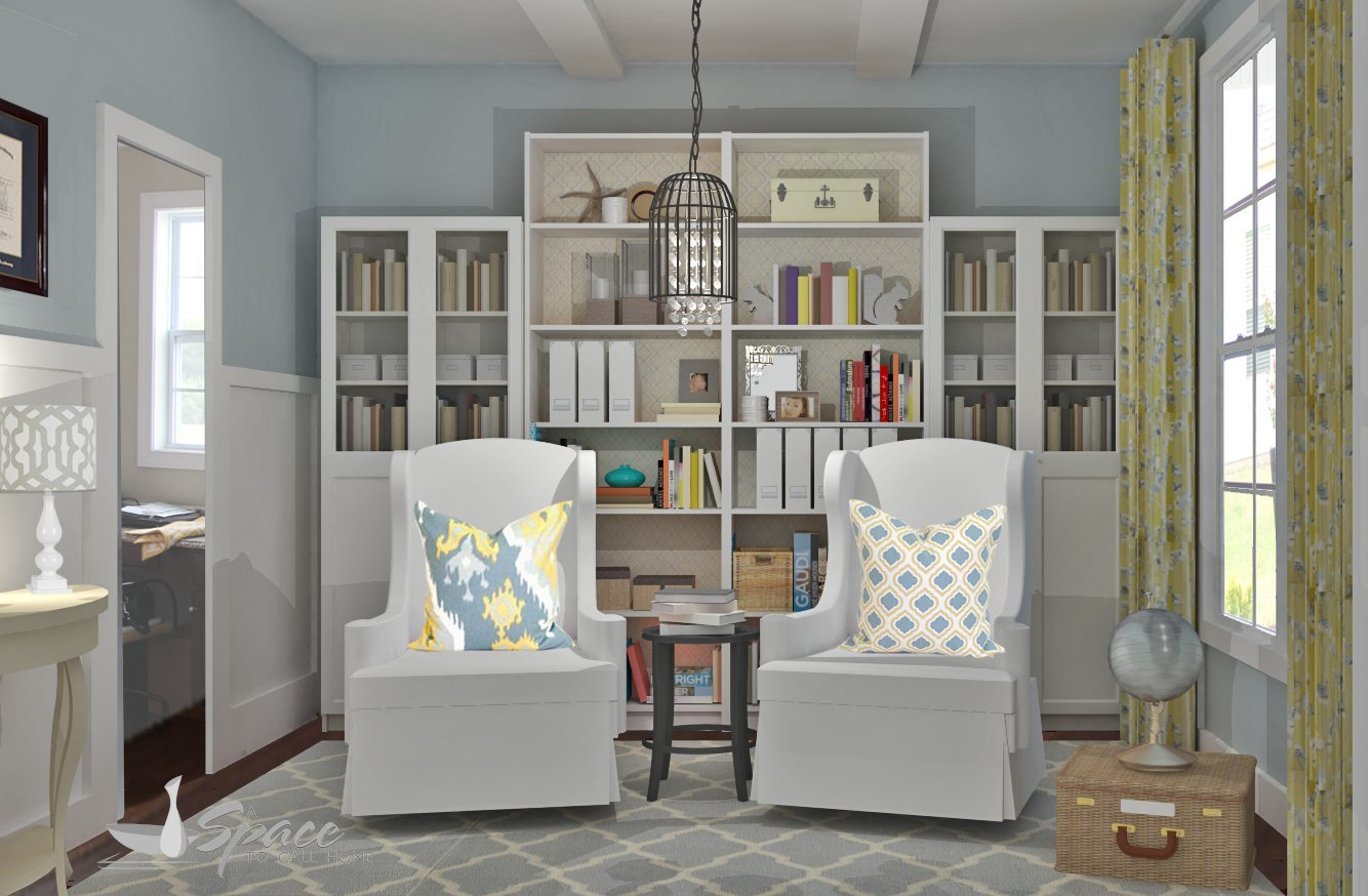 Home library design for Design ideas home